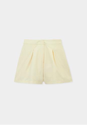 Pomelo yellow Sustainable High Waist Shorts - Yellow 3291AAAA46437EGS_1