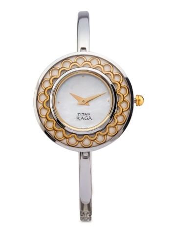 Titan  2530BM01 雙指針esprit taiwan時尚細鏈飾大圓錶, 錶類, 時尚型