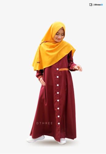 DTHREE pink Dthree - Davasha Muslim Dress Pink ED722AA0946BCEGS_1