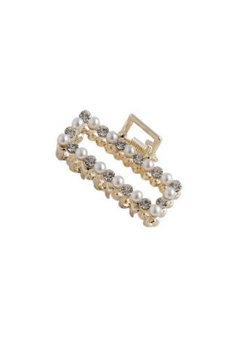 Glamorbit gold Gold Claw Hair Clip 12ECBAC20BC1B9GS_1