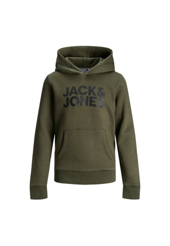 Jack & Jones green Corp Logo Sweat Hoodie E2BE3KA20D7EE7GS_1