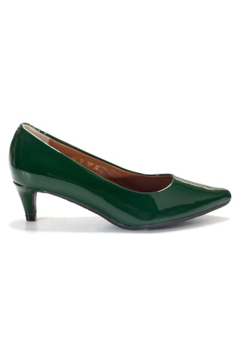 Shu Talk green LeccaLecca Patent Leather Pointy Heels 653A8SH361DCB0GS_1