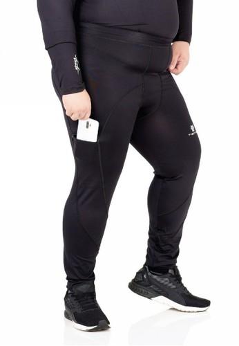 Tiento black Tiento Celana Legging Jumbo Evolution Long Pants with Hidden Pocket Men Big Size 7A73CAA55088AEGS_1