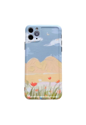 Kings Collection blue Blue Landscape iPhone 12 Case (KCMCL2146) 7EDB9ACCE21AE4GS_1