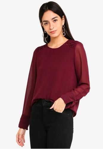 Vero Moda red Julia O-neck Top 1A724AA08BB798GS_1