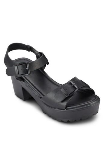 Lennox 雙esprit專櫃扣環厚底粗跟鞋, 女鞋, 鞋