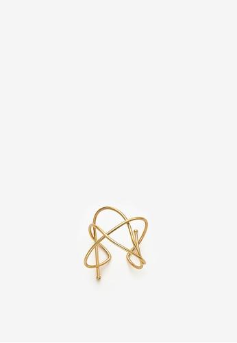 MONDAY EDITION gold Tangled Wire Bangle 3B5E8AC3C84AD4GS_1