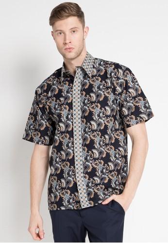 Batik Indra Loka black and multi Short Sleeve Kelir 5F008AA422034DGS_1