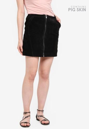 ONLY black Camara Suede Skirt CE884AA6B6E236GS_1