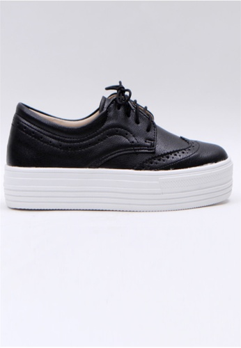 0dea9d30e19 Crystal Korea Fashion black Korean Made Versatile Platform Casual Shoes  C279ASH51A3B95GS 1