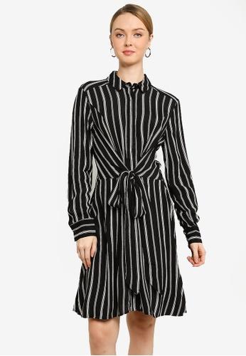a95e9d13df96 Buy WAREHOUSE Stripe Tie Wrap Dress | ZALORA HK