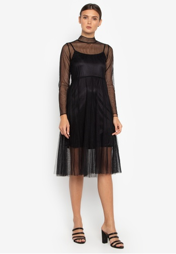 Susto The Label black Diana Tulle Dress 44E03AAC5A02F9GS_1