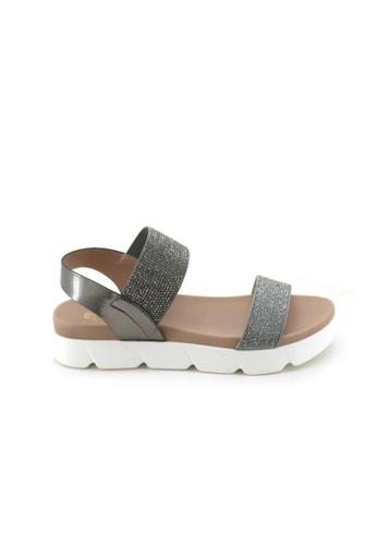 BATA Bata Women Pewter Sandals - 6602105 FB215SH4BF0A05GS_1