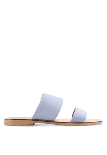 TOPSHOP blue Happy 2 Part Sandals A48E7SH0192E11GS_1