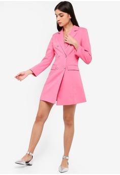 785ad1f1dc6d2 ZALORA Double Breasted Blazer Dress RM 135.00. Sizes XS S M L XL