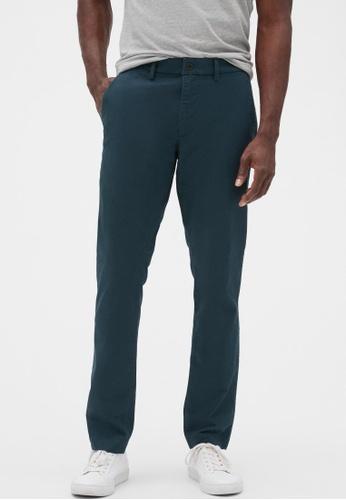 Gap blue Essential Khakis in Slim Fit D1969AA5CE3C99GS_1