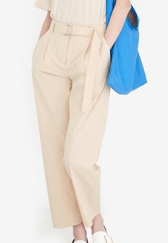 NAIN beige D-Ring Cropped Pants 5C1EEAAE343F09GS_1