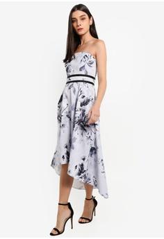 84eed6eb55 47% OFF Lipsy Vip Mono Tori Bandeau High Low Prom Dress HK  1