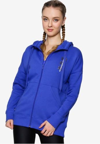 Under Armour 藍色 Rival Fleece Full Zip Hoodie 6FA14AA9408D95GS_1