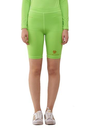 Jual Tiento Tiento Short Pants Stabilo Green Celana Legging Wanita Olahraga Renang Sepakbola Lari Original Zalora Indonesia