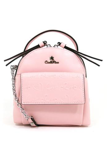 Carlo Rino pink Carlo Rino 0304212-001-24 Cross Body bag (Soft Pink) B0661AC4B8A10FGS_1
