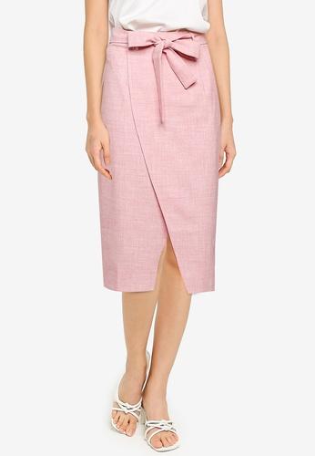ZALORA BASICS pink Tulip Wrap Skirt 1B965AAD30A1A2GS_1