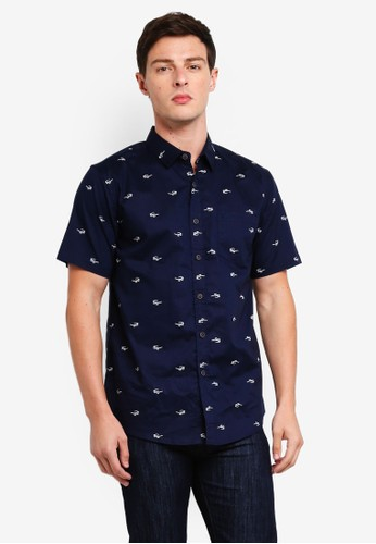 Fidelio navy Signature Short Sleeves Shirt C8E3CAA924FF60GS_1