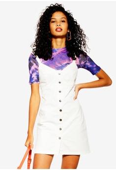 36ddccdf6ca3e TOPSHOP white Denim Button Down Bodycon Dress B4E6DAAC02B391GS_1