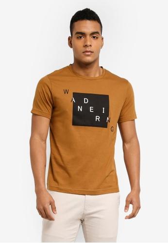 Marc & Giselle 褐色 短袖印花T恤 1344FAA9870AADGS_1