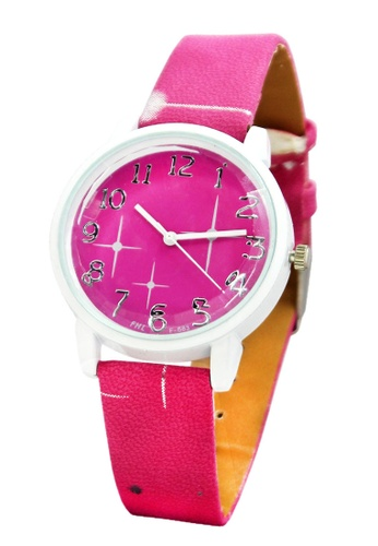 World of Watches pink FHL Orion Women's Leather Strap Watch F-583 WO566AC14IFXPH_1