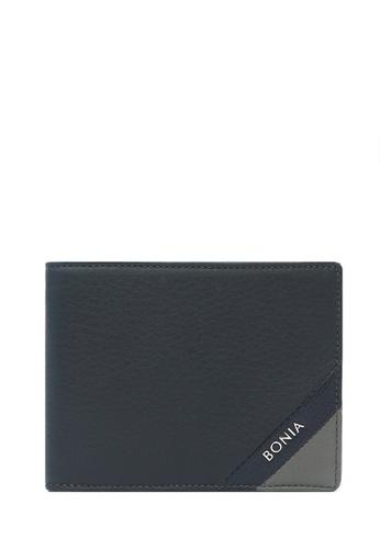 BONIA blue Navy Blue Bernardo Short Three Fold Wallet D09F8ACB827AC6GS_1