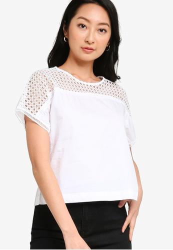 ZALORA BASICS white Boxy Crochet Top A0A44AA49B1643GS_1