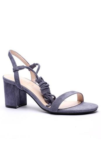 Twenty Eight Shoes 綁帶中跟涼鞋5691-8 99161SHABB7568GS_1