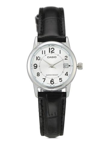Casio 黑色 Casio Black Genuine Leather Strap Watch 921C4AC1D9063DGS_1