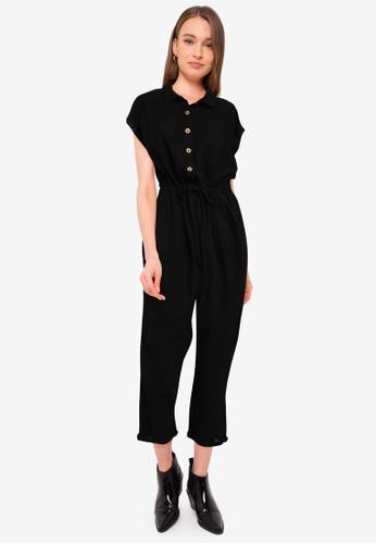 Cotton On black Woven Jasmine Utility Jumpsuit 7163BAA483377AGS_1