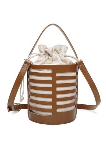 Milliot & Co. brown Zenobia Top Handle Bag 9D358ACFD58268GS_1