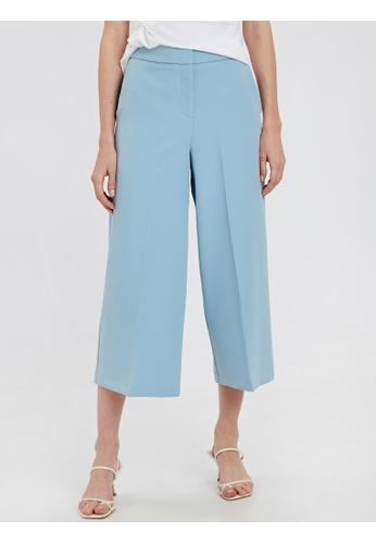 LC Waikiki blue Ankle Length Flare Legs Trousers 0C874AA52E43FCGS_1