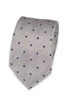 Burton Menswear London-Grey Polka Dot Print Tie And Pocket Square Set