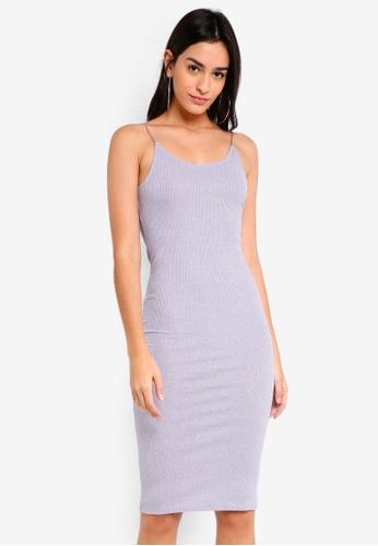 TOPSHOP purple Lurex Rib Midi Dress 18A72AA189C04FGS_1