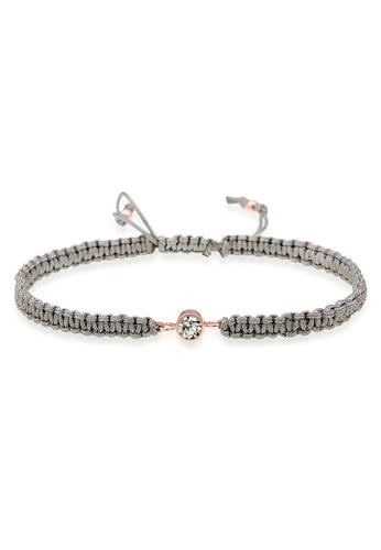 Elli Germany grey Solitaire Node Knotted Nylon Bracelet EL474AC0RFI1MY_1