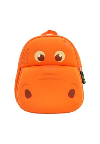 Nohoo orange Nohoo Kids Backpack Hippo (Orange) 7AB78KCAF4E944GS_1
