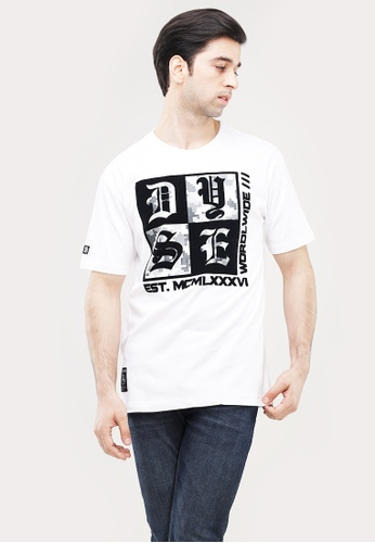 Dyse One white Round Neck Regular Fit T-Shirt D3C63AA943118EGS_1