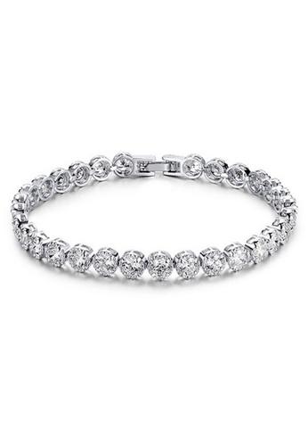 YOUNIQ silver YOUNIQ One-Drilling Platinum Plated Bracelet (Silver) YO999AC27SBSMY_1
