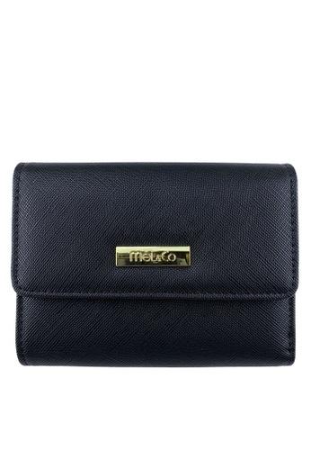 Mel&Co black Faux Leather Mid-Size Wallet 5FE34AC692206EGS_1