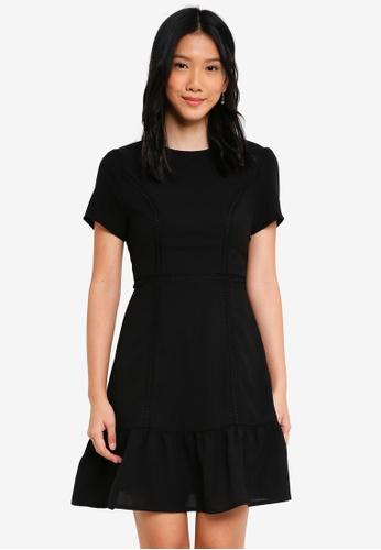 ZALORA black Shirt Sleeves Dress with Cutout Back Detail 7C2B2AAA7B982AGS_1