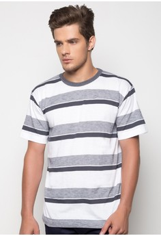 Toby Round Neck Striped Shirt