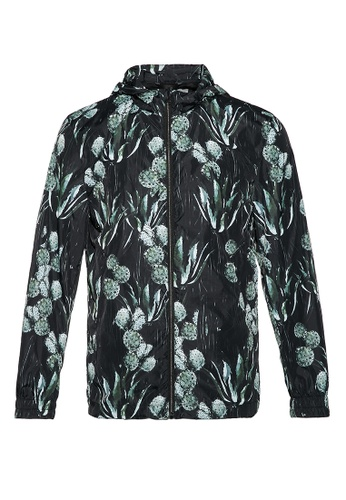 Gieves & Hawkes green PATTERNED BLOUSON 8A28EAA8EF01F6GS_1