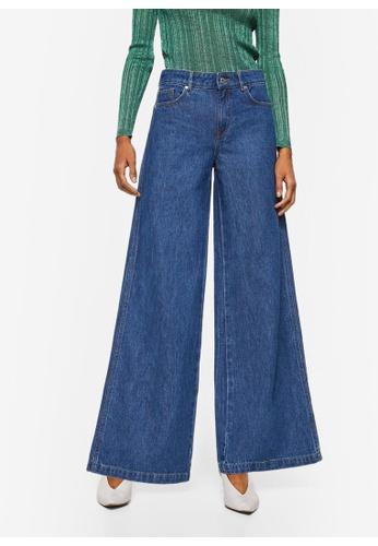 Mango blue Jeans Flare Wideleg 1873DAAFF2C64FGS_1