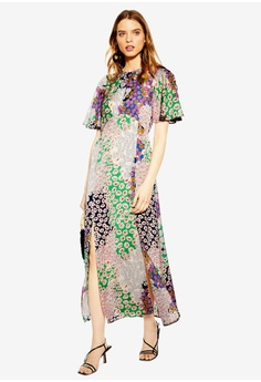 f7b3c5b6307651 TOPSHOP multi Floral Print Angel Sleeve Dress 19130AA64BE8F6GS_1