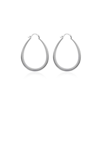 Glamorousky silver Simple U-shaped Water Drop Earrings 8B9ACAC323CDCCGS_1